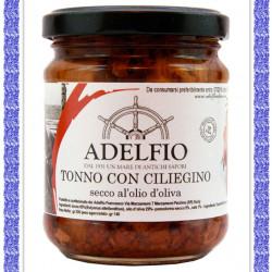 Tonno con Pomodorino ciliegino secco all'0lio d'oliva vaso gr 200