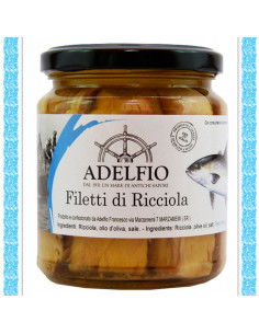 Filetti di Ricciola all'olio d'oliva vaso gr 300