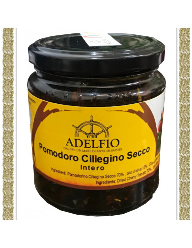 Pomodoro Ciliegino secco all'olio d'oliva vaso gr 190