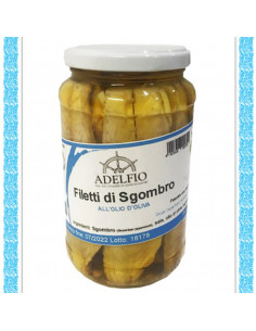 Filetti di Sgombro all'olio d'oliva vaso gr 565