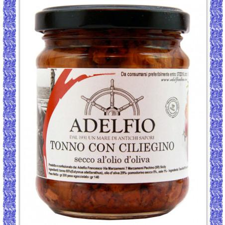 Tonno con Pomodorino ciliegino secco all'olio d'oliva vaso gr 200