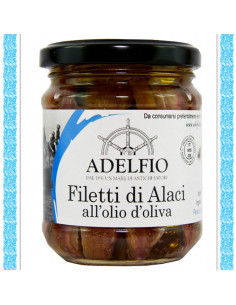 Filetti di Alaci all'olio d'oliva vaso gr 200