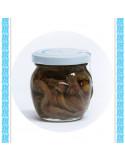 Filetti di alici con pistacchio all'olio d'oliva vaso gr 106