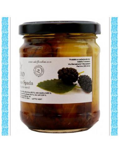 Filetti di Pescspada con confettura di gelsi neri vaso gr 200FS002V