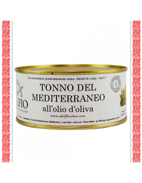 Tonno del Mediterraneo all'olio d'oliva latta gr 850
