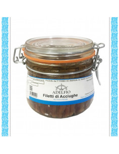 Filetti di acciughe all'olio d'oliva vaso gr 580