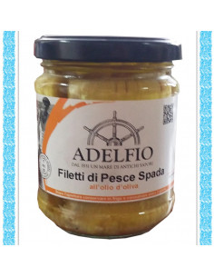 Filetti di Pescespada all'olio d'oliva vaso gr 200
