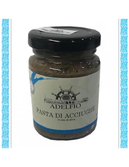 Pasta di acciughe all'olio d'oliva vaso gr 100