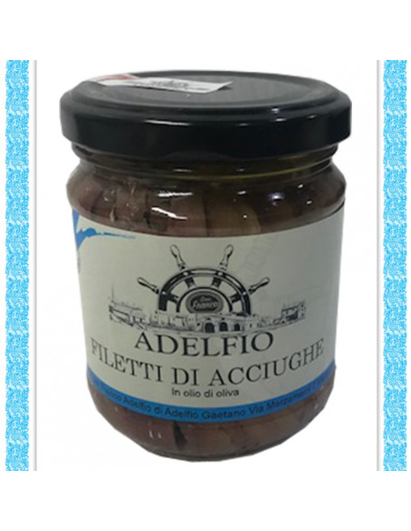 50 vasi di Filetti di acciughe all'olio d'oliva vaso gr 200