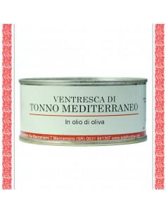 Ventresca di Tonno Mediterraneo all'olio d'oliva latta gr 300