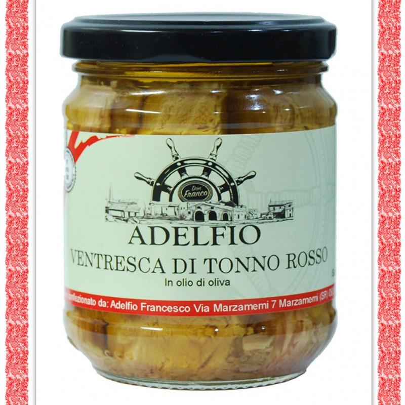 Ventresca di Tonno Rosso all'olio d'oliva vaso gr 200