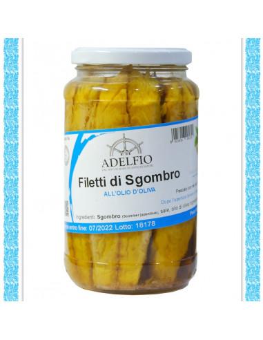 Filetti di Sgombro all'olio d'oliva vaso gr 565