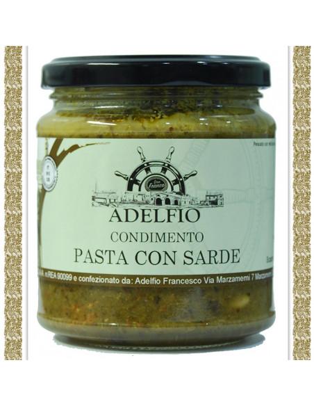 Pasta con Sarde vaso gr 300