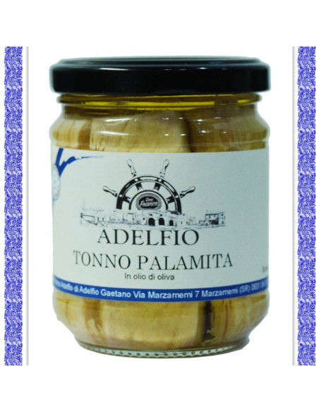 Tonno Palamita all'olio d'oliva vaso gr 200