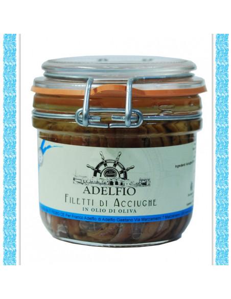 Filetti di Acciughe all'olio di oliva vaso gr 230