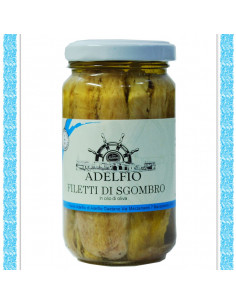 Filetti di Sgombro all'olio d'oliva vaso gr 200