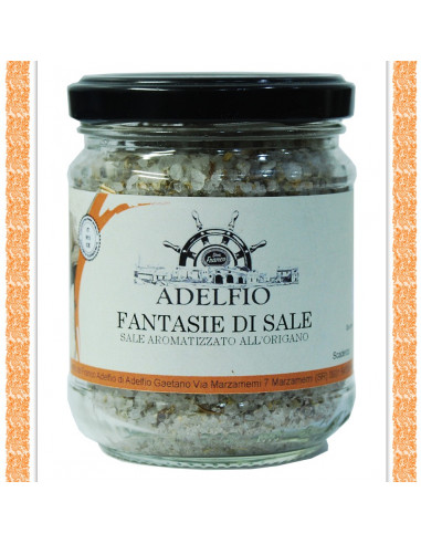 fantasie di sale aromatizzato all'origano